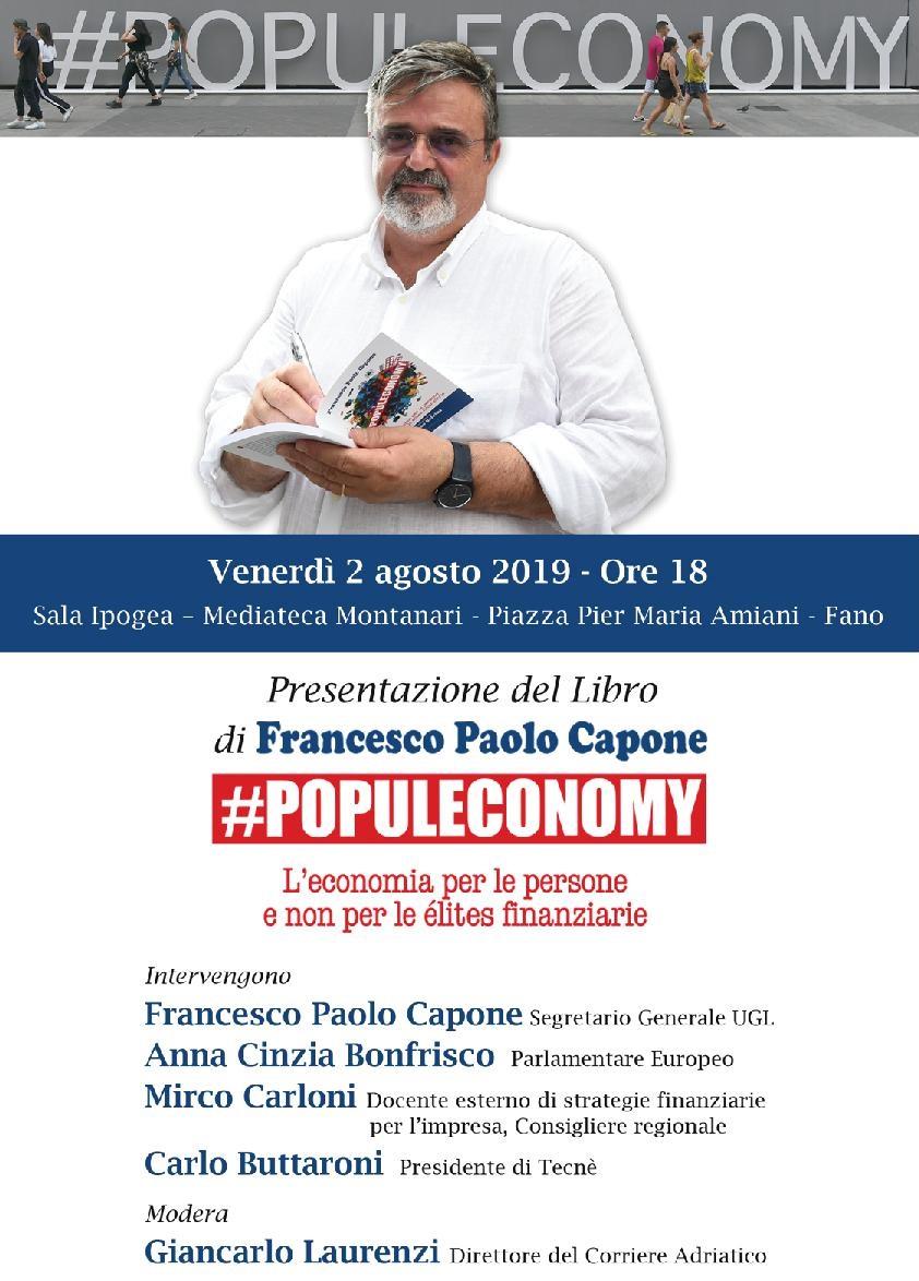 PRESENTAZIONE DEL LIBRO #POPULECONOMY DI FRANCESCO PAOLO CAPONE