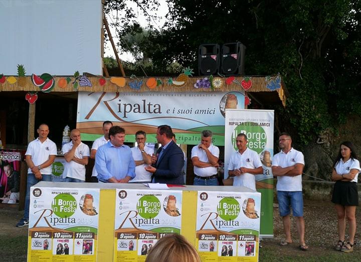 """CARLONI ALLA PRESENTAZIONE DI """"UN BORGO IN FESTA – RIPALTA 2019"""""""