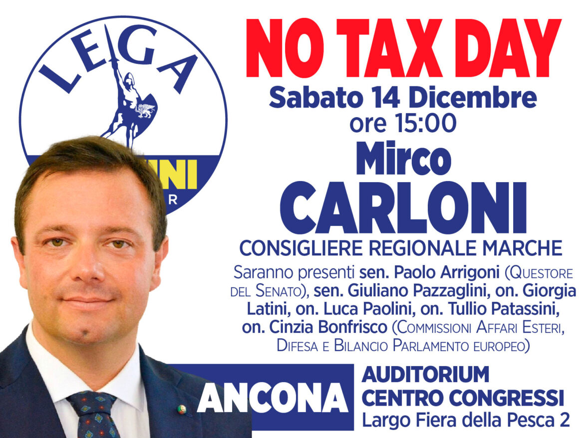 NO TAX DAY – 14 DICEMBRE