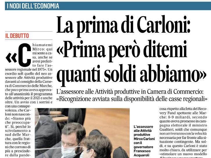 """LA PRIMA DI CARLONI: """"PRIMA PERO' DITEMI QUANTI SOLDI ABBIAMO"""""""